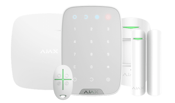 house alarm keypad and sensors